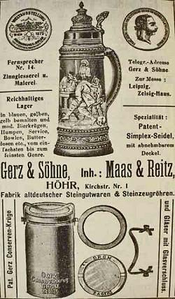 Gerz & Söhne (Inhaber Mass & Reitz) 1