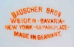Porzellanfabrik Weiden Gebrüder (August & Conrad) Bauscher 07
