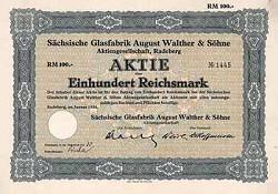 Sächsische Glasfabrik August Walther & Söhne A. G. / Sachsenglas G.m.b.H 11-4-19-1