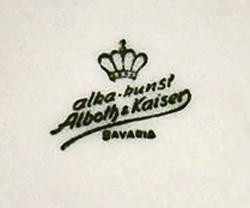 Porzellanfabrik AL-KA Kunst Alboth & Kaiser 11-8-2-1