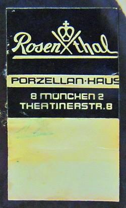 (Porzellanfabrik) Ph. Rosenthal & Co. (AG) / Rosenthal (Glas &) Porzellan AG / Rosenthal AG / Rosenthal GmbH 12-9-16-2