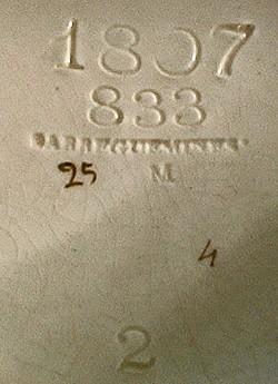 Porzellanfabrik Utzschneider & Cie - Sarreguemines 12-9-16-1