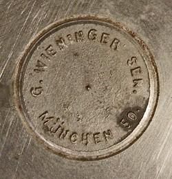 Werkstätten für Keramik-Malerei G. Wieninger Snr.12-11-25-1
