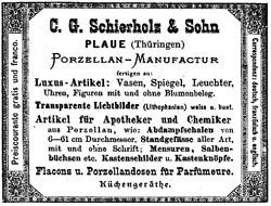 C.G. Schierholz (& Sohn) / V.E.B. Porzellan Manufaktur Plaue 12-11-29-1