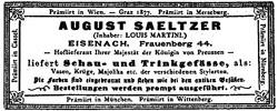(Wilhelm) August Saeltzer 12-11-29-1