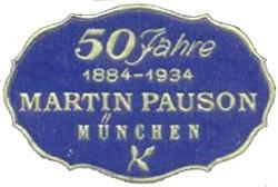 Martin Pauson K.G. (Inhaber Martin Pauson und Hugo Aufseesser) / Fritz Haertle vormals Martin Pauson 13-9-7-2