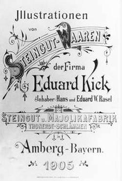 Oberpfälzer Steingutmanufaktur Eduard Kick in Amberg 13-11-11-1