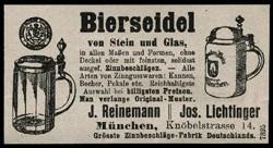 (Josef) Reinemann & (Joseph) Lichtinger München. 15-5-6-1