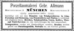 Gebrüder Allmann München. 15-5-8-1