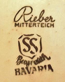 Porzellanfabrik Joseph Rieber & Co. 16-6--10-1