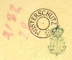 Porzellan und Steingutfabrik Ludwig Wessel 18-4-17-1