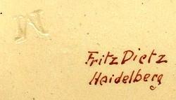 Fritz Dietz vormals J.C.Schirmer / Fritz Dietz / Hans Dietz 18-8-1-2