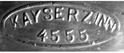 J.P. Kayser & Sohn A.G. (Inhaber Engelbert Kayser) Kayserzinn 20-2-18-3